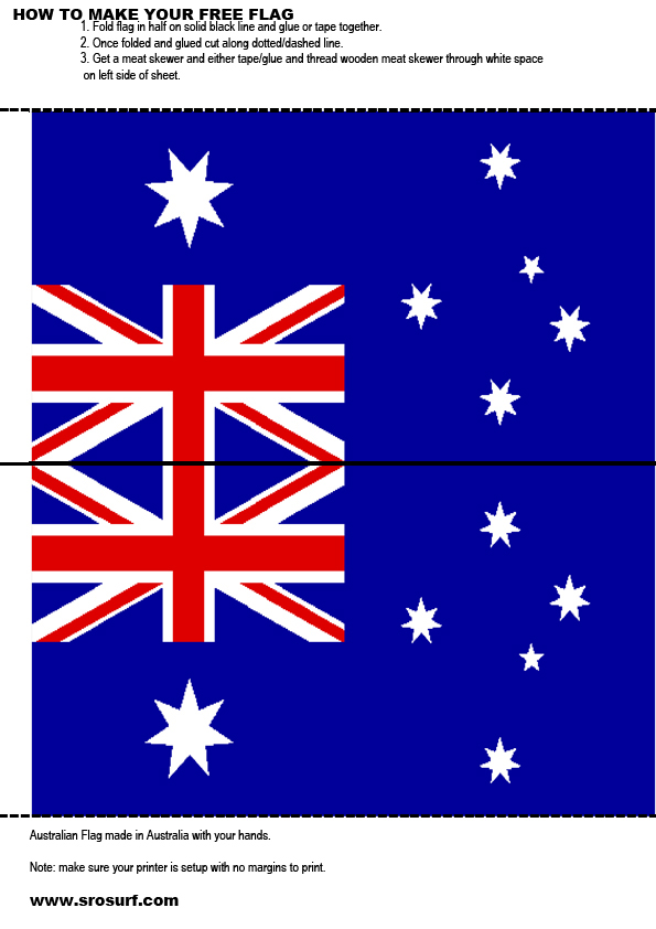 How to make your own australian flag
